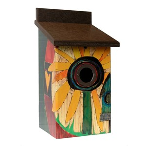 Sunflower Birdhouse - Front View