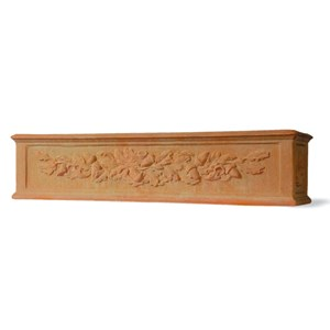 Fiberglass Window Box with Oak Leaf Design