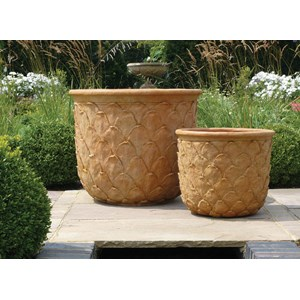 Fiberglass Planters with Pineapple Design - 2 sizes