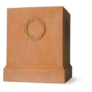 Fiberglass pedestal - Weathered Terracotta