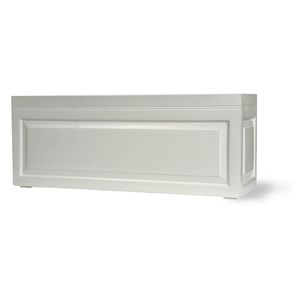Sloane Trough fiberglass planter - Gloss White