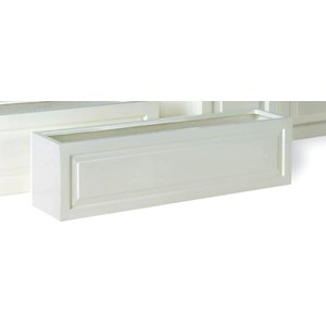 Sloane fiberglass Window Box in Gloss White