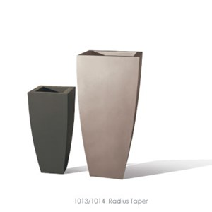 Radius - tall tapered square planters