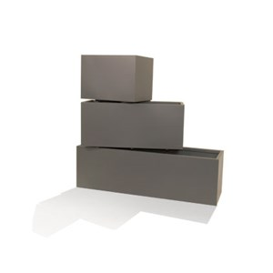 Mid Rectangle - metal rectangular planters