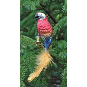 Red & Blue Parrot Ornament