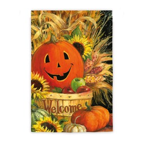 Welcome Pumpkin Flag