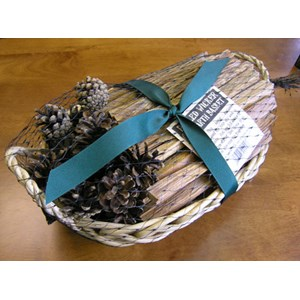Fireside Fatwood & Pinecone Basket