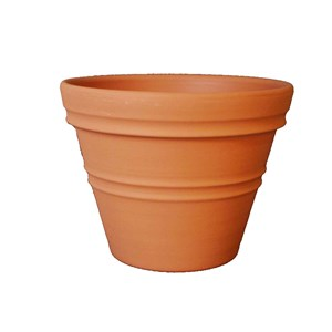 Rolled Rim Planter - round rotationally molded plastic planter