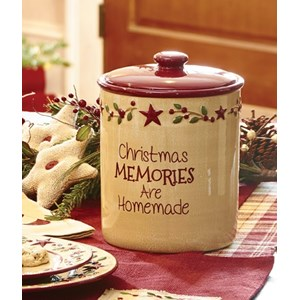 Christmas Memories Cookie Jar