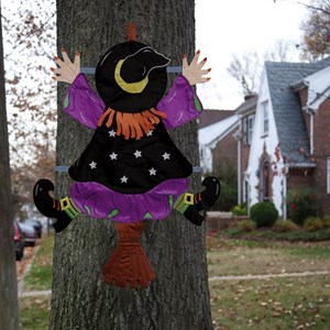 Witch Splat Halloween Decoration