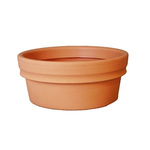 Low Rolled Rim Planter - rotationally molded plastic planter
