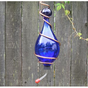 Hummingbird Feeder - Cobalt Blue