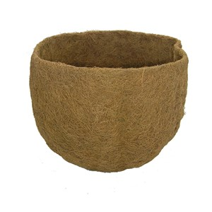 "Molded Coco Liner for Castilian Hanging Basket 14"" x 9.5"""
