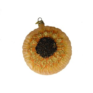 Giant Sunflower Ornament - Hand-Blown Glass