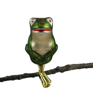 Frog Ornament - Hand-Blown Glass