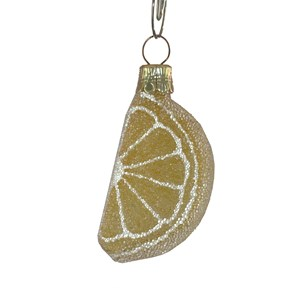 Lemon Wedge Ornament - Hand-Blown Glass