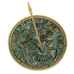 Solid Brass Flowers Sundial