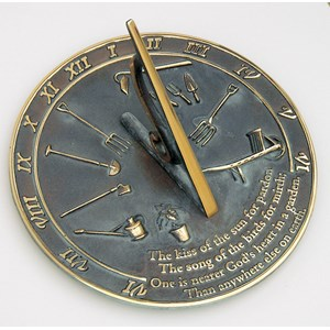 Solid Brass Kiss the Sun Sundial