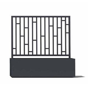 Aluminum Trellis for Rectangular Planters