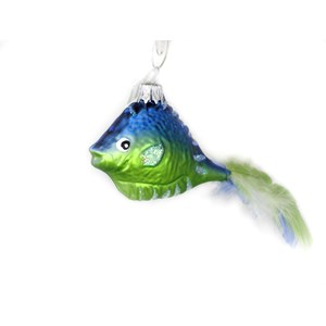 Fish with Feather Tail Ornament