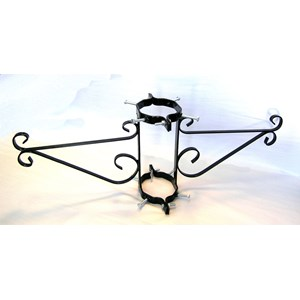 Double Lamppost Scroll Bracket