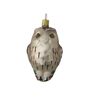Owl Ornament - Hand-Blown Glass