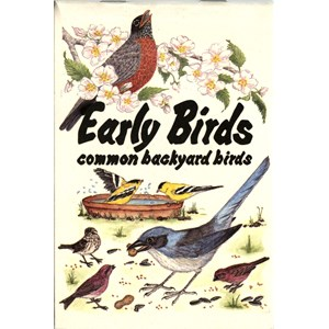 Early Birds - common backyard birds - flip book
