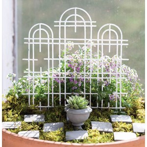 Miniature White Trellis