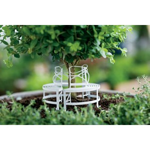 Miniature White Tree Bench