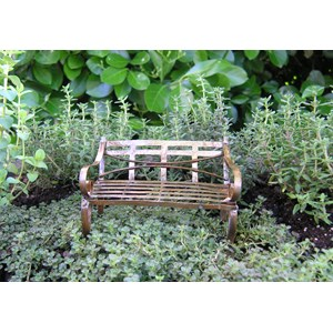 Miniature Antique Garden Bench