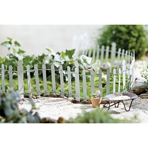 Miniature White Picket Fence