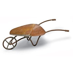 Miniature Rust Wheelbarrow