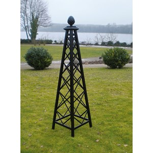 Malmaison Rose Pillar   Steel Construction Black Powder Coated
