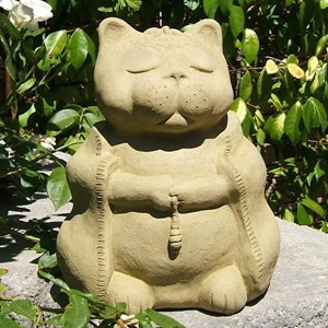 Meditating Cat - Old Stone