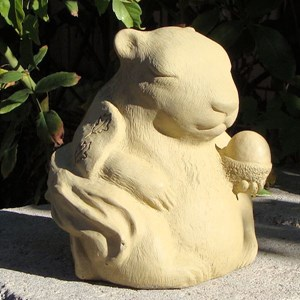 Meditating Squirrel - Old Stone