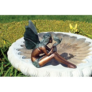 Brass Bird Fairy Statue