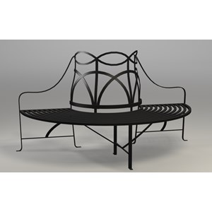 Tree Bench - Black