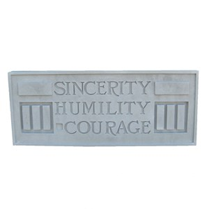 Larkin Building Plaque - Sincerity, Humility, Courage