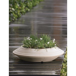 Daniel Bowl - lightweight resin planter - Weathered Stone