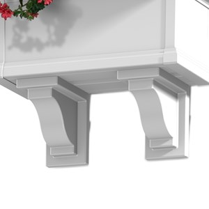 Yorkshire Decorative Brackets - White