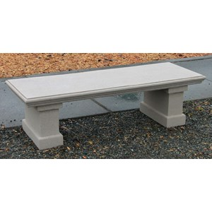 Nisqually cast stone bench