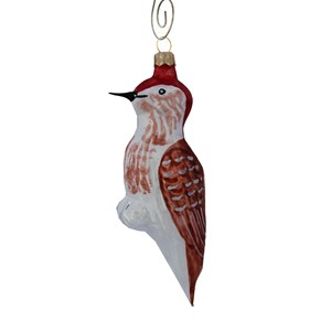 Woodpecker with Red Head Ornament