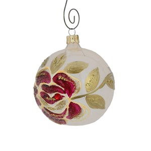 Rose on Champagne Ball Ornament