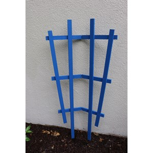 Colorful Wooden Garden Trellises bend in center