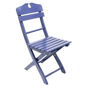 Blue Wooden Folding Chair
