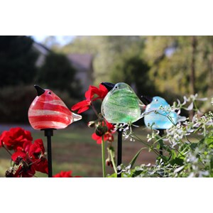 "Glass Bird Stakes - 18"" H"