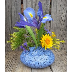 Posey Pot - small flower vase - Sapphire Sea Foam