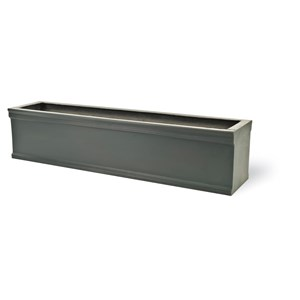 Chelsea fiberglass trough planter - Faux Lead