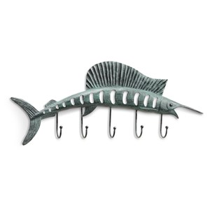 Sailfish Wall Hook - Verdigris