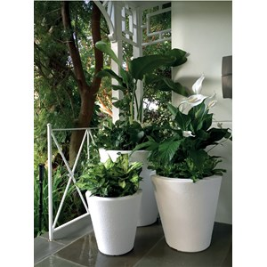 Dot TruDrop Planters in Alpine White